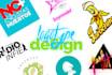 crear 2 MAGNÍFICOS logo en 24 horas