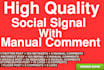 build social signals with manual