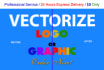vectorize your Logo or SKETCH within 24 hours
