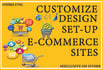 design, setup, customizing and fix online SHOPPING site
