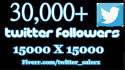 add 30,000+ twitter followers by your 2 profile 15000 x 15000 link to larger your twitter followers in 5 hours without your account password