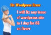 fix WordPress ERRORS and issues