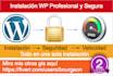 instalar Wordpress con Seguridad y Velocidad incluida