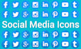 create social media icons for your project