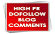 give 45 High Pr and Dofollow Comment BACKLINKS, Panda/Penguin Safe