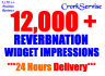 get you over 12,000 REVERBNATION widget impressions on Reverbnation Profile