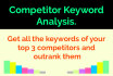 give you 3 competitor keyword Google search report