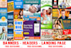 design a Pro Grade Web BANNER and Header Designs with Free Revisions