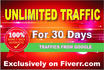 send 15000 Real VISITORS within 1 month