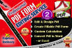 create fillable PDF form or Change and edit pdf in 24 hours