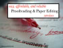 proofread and Edit your paper