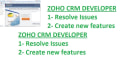 resolve Zoho CRM issues and create new features