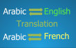 translate 500 words from Englishfrench to arabic or arabic to English or french