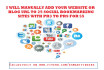 manually add your site URL to 25 social bookmarking sites PR3 to PR9