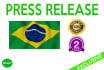 write a Press Release in Portuguese
