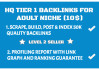 build 50k adult niche verified backlinks and dripfeed daily