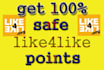 give you 2500 like4lik,e points