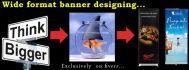 design eye catching wide format printing BANNER
