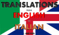 translate Your documents from english to Italian and vice