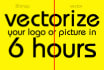 vectorize your logo or picture in 6 hours