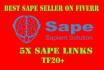 make 5 20 trust flow sape links for sape seo  sape