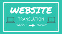 translate your website from Eng to Ita