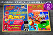 customize this Superheroes Invitation
