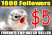 get Twitter Followers, 1000 People