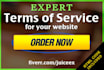 write a Terms of Service Agreement for your website