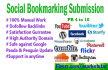 do manually 40 PR10 to PR4 social bookmarks backlinks
