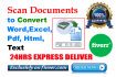 scan documents to convert word Excel Pdf Html and Text