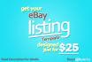 design eBay listing template