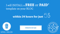install a FREE or Paid blogger template