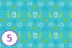 design a cute seamless pattern for your blog