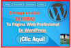 crear tu Sitio Web o Blog WordPress en 24 Horas