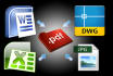 convert Word,Excel, Jpeg, Autocad, Web Page to PDF