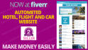 develop automated hotel flight car booking site