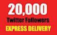 20000 twitter followers