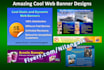 design AMAZING Cool Static Web Banner