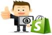design, modify and Setup a Shopify website