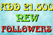 add 21500 new followers to your twitter account