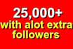 add 25200 twitter followers