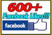 add facebook likes 500 to 600