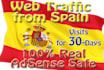 30 Days of web Traffic, Visitors from Spain