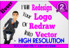 redesign your LOGO to High Resolution
