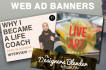 create 2 web banners in under 24 hours