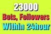 give you 23,000 followers