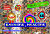 design banners and headers in a great manner