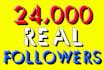 add 24000 followers