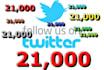 add 21000 followers on twitter